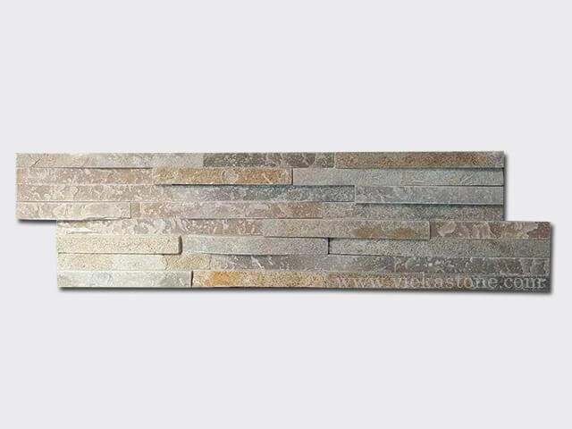 beige slate stone cladding wall panels 8 line Z shape 1