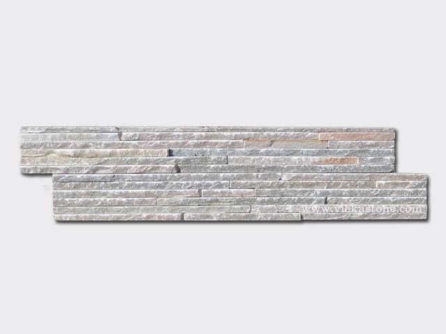 beige slate stone cladding wall panels waterfall Z shape 1