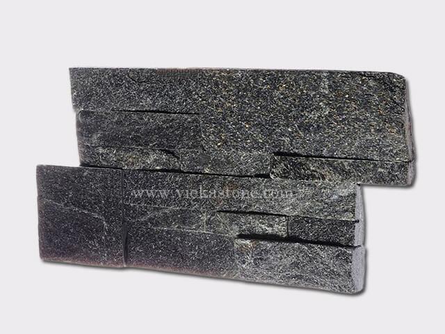 black quartz culture stone wall panel 35x18cm 2