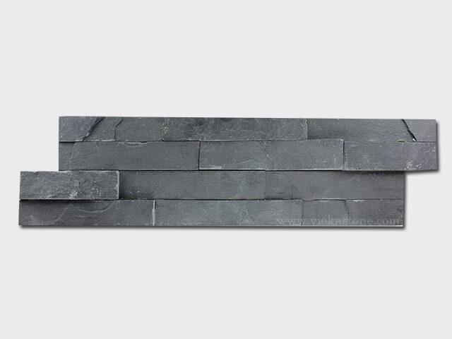 black slate culture stone wall panel s shape