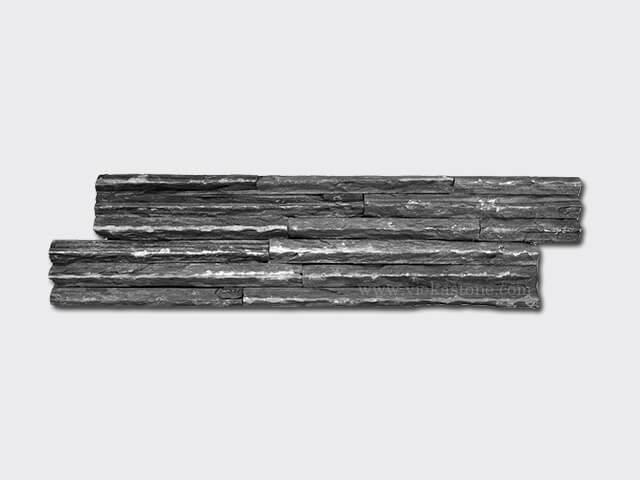 black slate culture stone wall panel s shape mountain 1