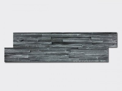 black slate culture stone wall panel s shape waterfall 1
