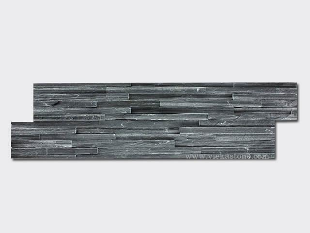 black slate culture stone wall panel s shape waterfall 1