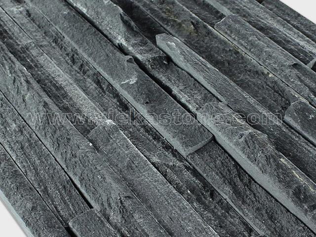 black slate culture stone wall panel s shape waterfall 2