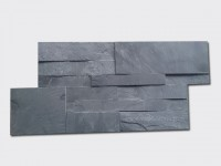 charcoal black slate culture stone wall panel 35x18cm1