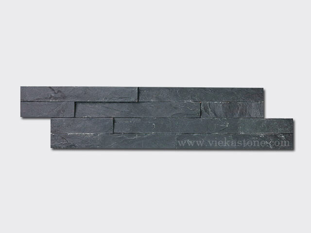 charcoal black slate thin stone veneer slim panel 1