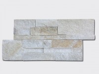 cream white quartz culture stone wall panels 35x18cm 1