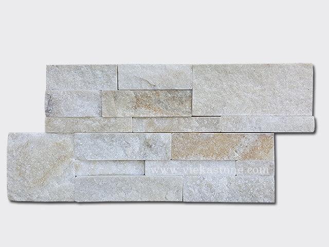 cream white quartz culture stone wall panels 35x18cm 1