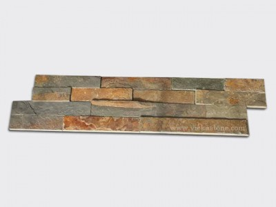 multicolor slate culture stone wall panel s shape