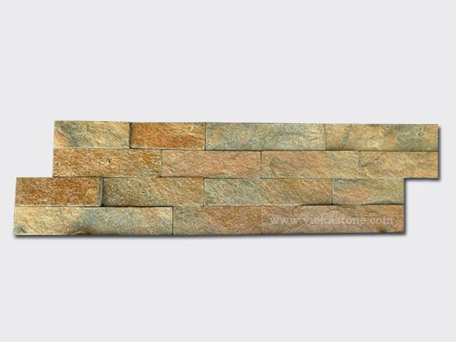 rusty quartz culture stone wall panel s shape