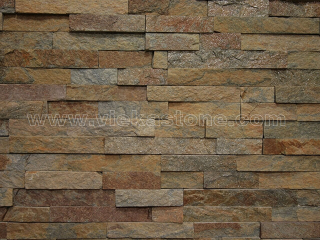 rusty quartz culture stone wall panel s shape 3