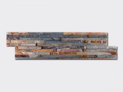 rusty slate stone cladding wall panels 10 line Z shape 1