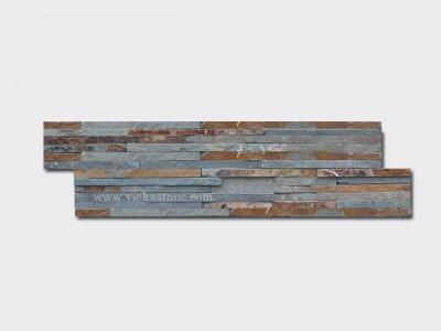 rusty slate stone cladding wall panels waterfall Z shape 1