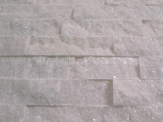 snow white quartz culture stone wall panel s shape 2