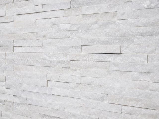 snow white quartz culture stone wall panel s shape 3