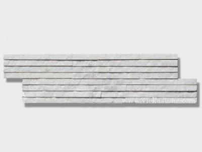 snow white quartz stone cladding wall panels 8 line Z shape 1