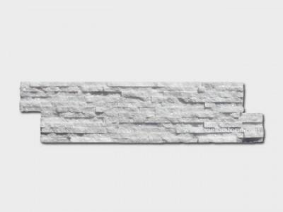 snow white quartz stone cladding wall panels waterfall Z shape 1