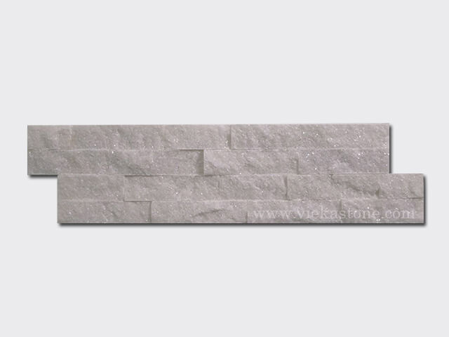 snow white quartz thin stone veneer slim panel 1