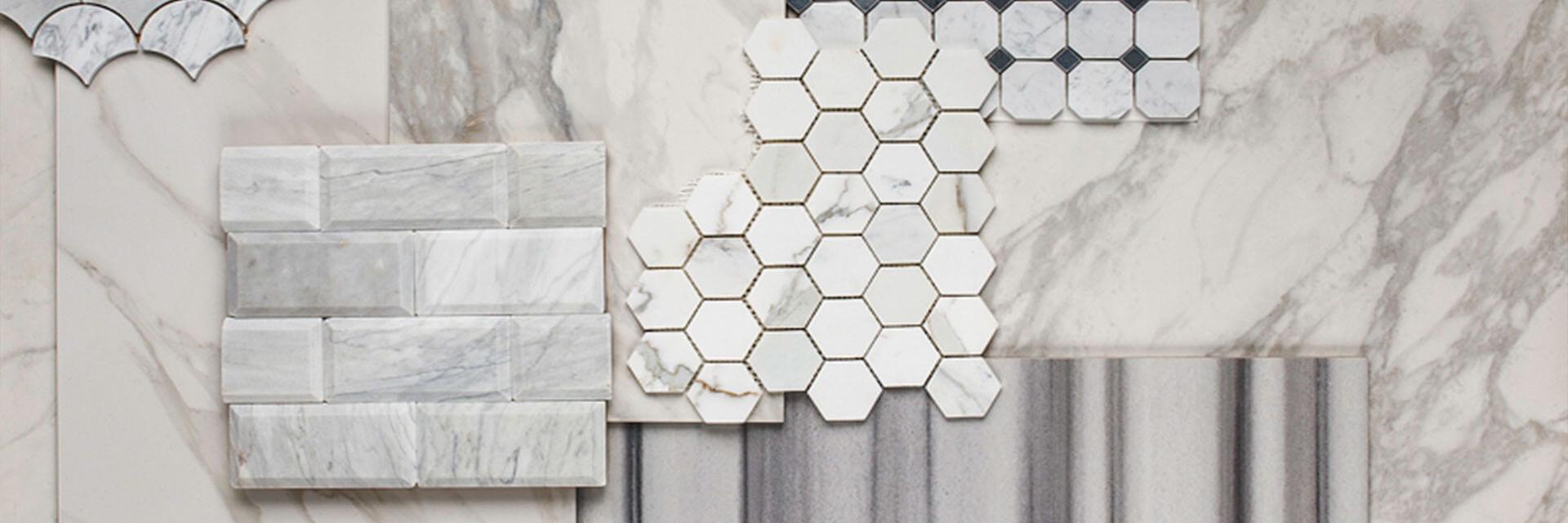 carrara marble mosaic tile