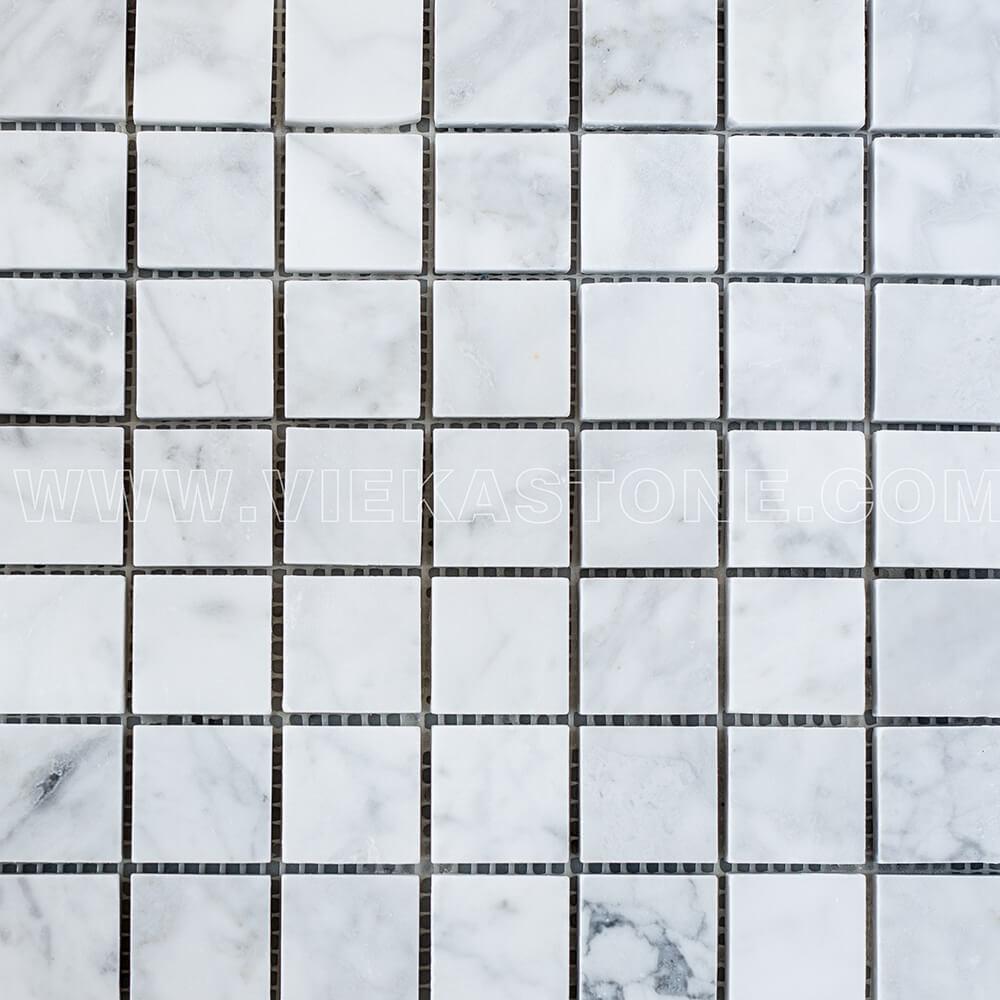 Bianco Carrara White Marble Mosaic Tile 30x30mm Square Polished (2)