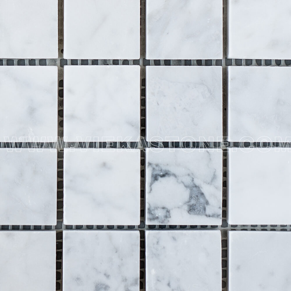 Bianco Carrara White Marble Mosaic Tile 30x30mm Square Polished (3)
