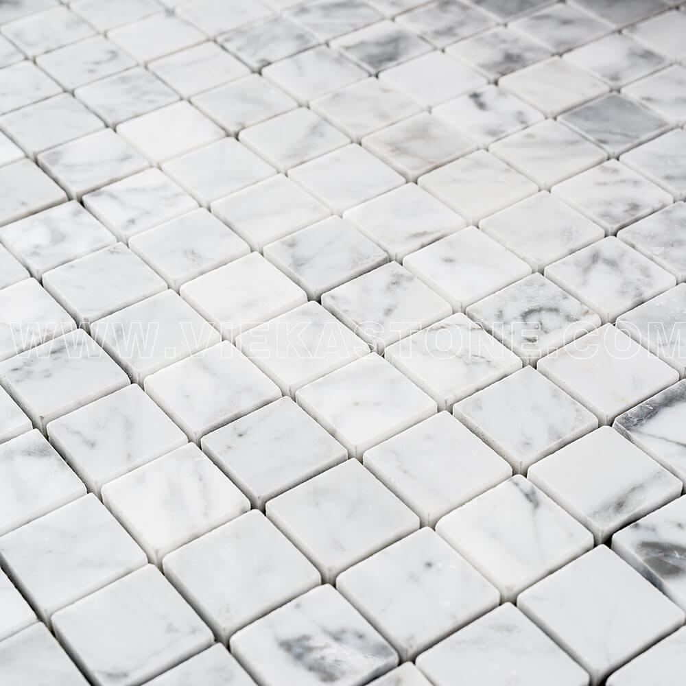 Bianco Carrara White Marble Mosaic Tile 30x30mm Square Polished (4)